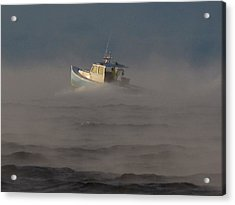 Sea Smoke Lobster Boat Acrylic Print