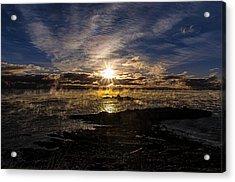 Sea Smoke Panorama Acrylic Print by Marty Saccone