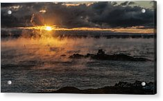 Sea Smoke Sunrise Acrylic Print by Marty Saccone