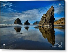 Sea Stack Blues Acrylic Print by Adam Jewell