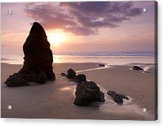 Sea Stack Sunset Acrylic Print