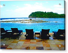 Sea Star Villa Acrylic Print by Carey Chen