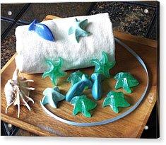 Sea Stars Mini Soap Acrylic Print by Anastasiya Malakhova