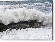 Sea Storm  Acrylic Print by Antonio Scarpi