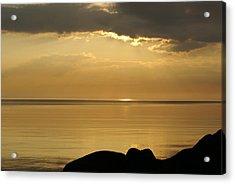 Sea / Sunset Acrylic Print by Gynt