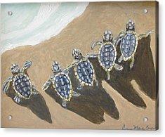 Sea Turtle Babes Acrylic Print