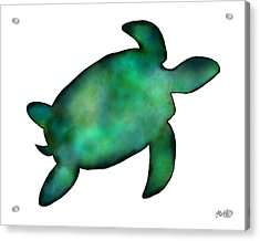 Sea Turtle Acrylic Print by Laura Bell