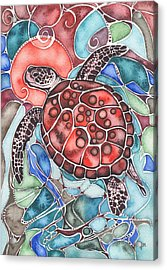 Sea Turtle Acrylic Print by Tamara Phillips