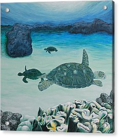 Sea Turtles Acrylic Print by Krista Kulas
