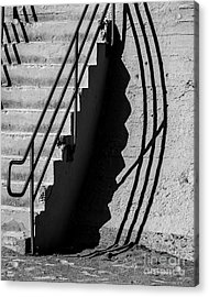 Sea Wall Shadow Acrylic Print by Perry Webster