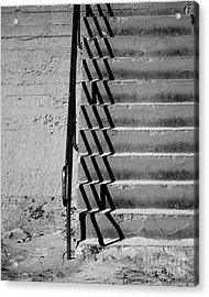 Sea Wall Steps Acrylic Print by Perry Webster