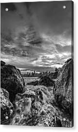 Sea Water Between Rocks Acrylic Print