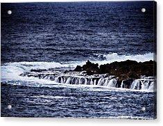 Sea Waterfall Acrylic Print by Douglas Barnard