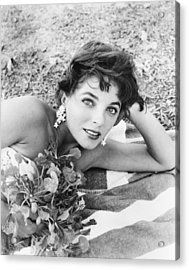 Sea Wife, Joan Collins, On-set Acrylic Print by Everett