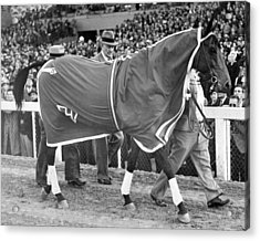 Seabiscuit Horse Racing #4 Acrylic Print by Retro Images Archive