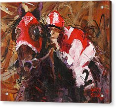 Seabiscuit Acrylic Print by Ron and Metro