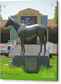 Seabiscuit Statue At Santa Anita Race Track  Acrylic Print