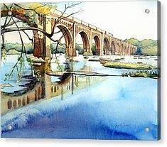 Seaboard Bridge Crossing The James  Acrylic Print