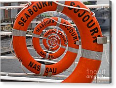 Seabourn Sojourn Spiral. Acrylic Print