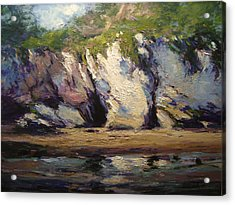 Seacaves At Pismo Beach Acrylic Print by R W Goetting