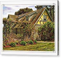 Seacoast Cottage Acrylic Print by Marcia Lee Jones