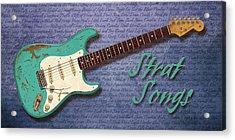 Seafoam Strat Songs  Acrylic Print