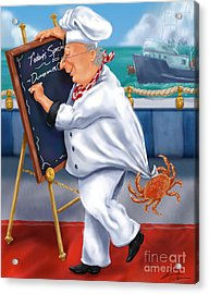 Seafood Chefs-todays Special Acrylic Print