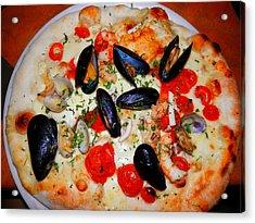 Seafood Pizza Acrylic Print