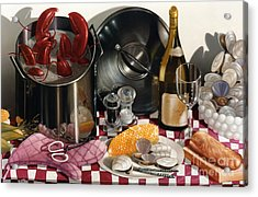 Seafood Serenade 1996  Skewed Perspective Series 1991 - 2000 Acrylic Print by Larry Preston