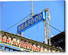 Seafood Sign Acrylic Print by Valentino Visentini