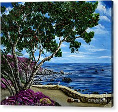 Seagull At Pacific Grove Overlook Acrylic Print