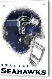 Seahawks 12 Acrylic Print by Daniel Hagerman