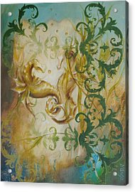 Seahorse Dream 2 Acrylic Print by Dina Dargo