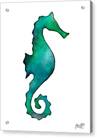 Acrylic Print featuring the painting Seahorse by Laura Bell
