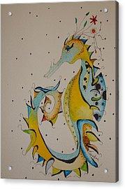 Seahorse Acrylic Print by Michelle Thompson