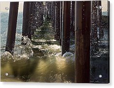 Seal Beach Pier Surf Acrylic Print by Heidi Smith