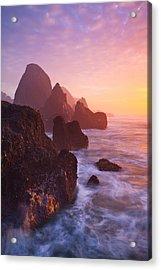 Seal Rock Sunset Acrylic Print by Darren  White