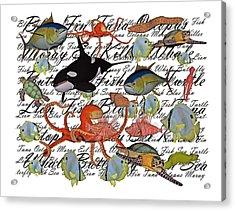 Sealife Dreamland IIi Acrylic Print by Betsy Knapp