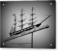 Acrylic Print featuring the photograph Seaman's Bethel Weathervane  by Kathy Barney