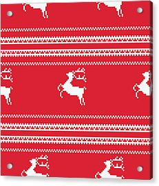 Seamless Christmas Pattern Acrylic Print by Mike Taylor