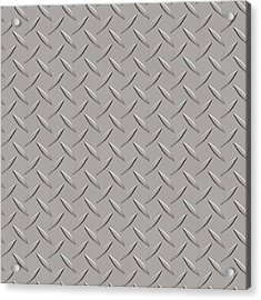 Seamless Metal Texture Rhombus Shapes 3 Acrylic Print by REDlightIMAGE
