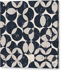 Seamless Pattern Background, Halftone Acrylic Print