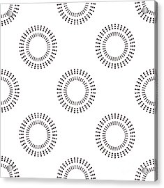 Seamless Pattern With Circles. Vector Acrylic Print
