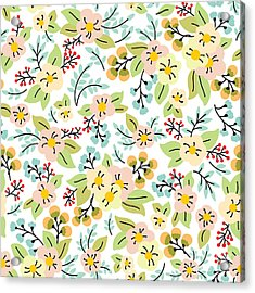 Seamless Pattern With Yellow And Pink Acrylic Print