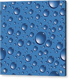 Seamless Water Drops Acrylic Print by Jobalou