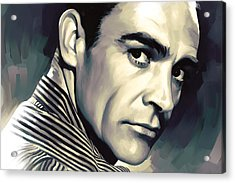 Sean Connery Artwork Acrylic Print by Sheraz A