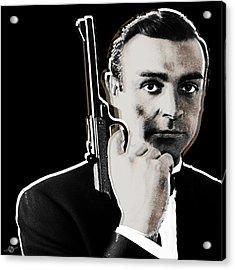 Sean Connery James Bond Square Acrylic Print by Tony Rubino