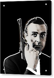 Sean Connery James Bond Vertical Acrylic Print by Tony Rubino