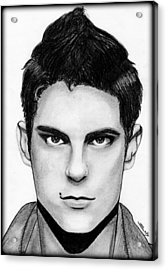 Sean Faris Acrylic Print by Saki Art