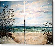 Seaoats On The Beach Acrylic Print